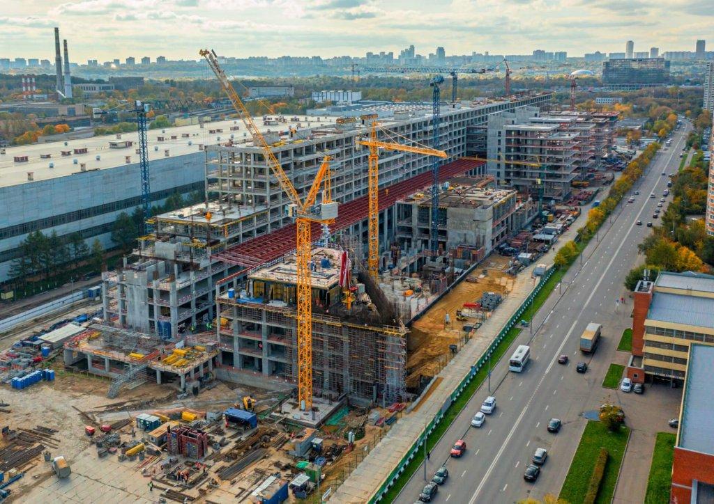 Завершается возведение основных конструкций четвертого этажа башни НКЦ