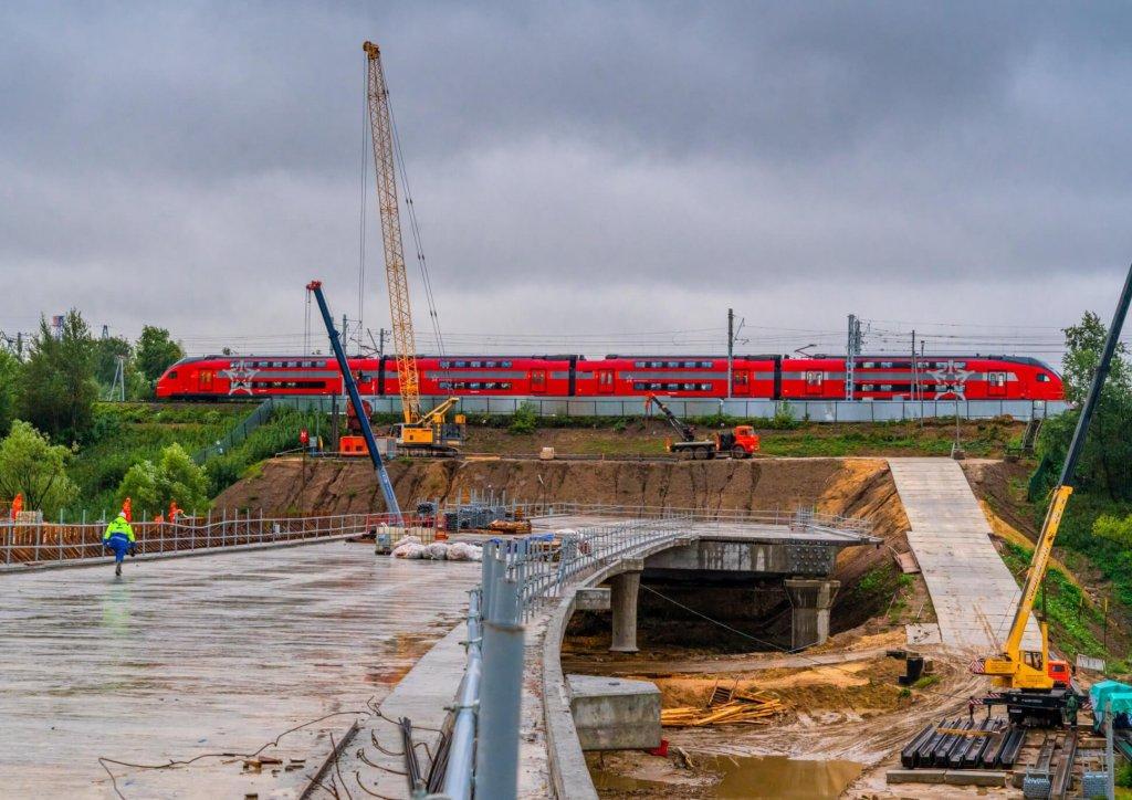 Путепровод через реку Городня на участке Юго-Восточной хорды готов на 80%